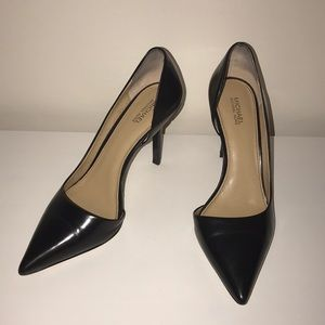 MICHAEL Michael Kors Black Leather Heels Sz 8